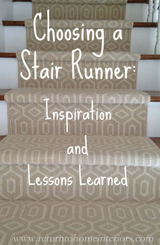 Choosing A Stair Runner Some Inspiration And Lessons