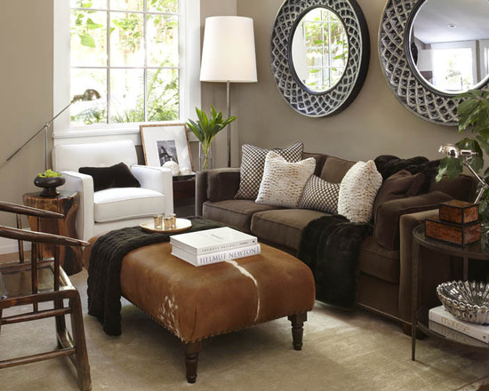 decorating with brown sofa interior design ideas